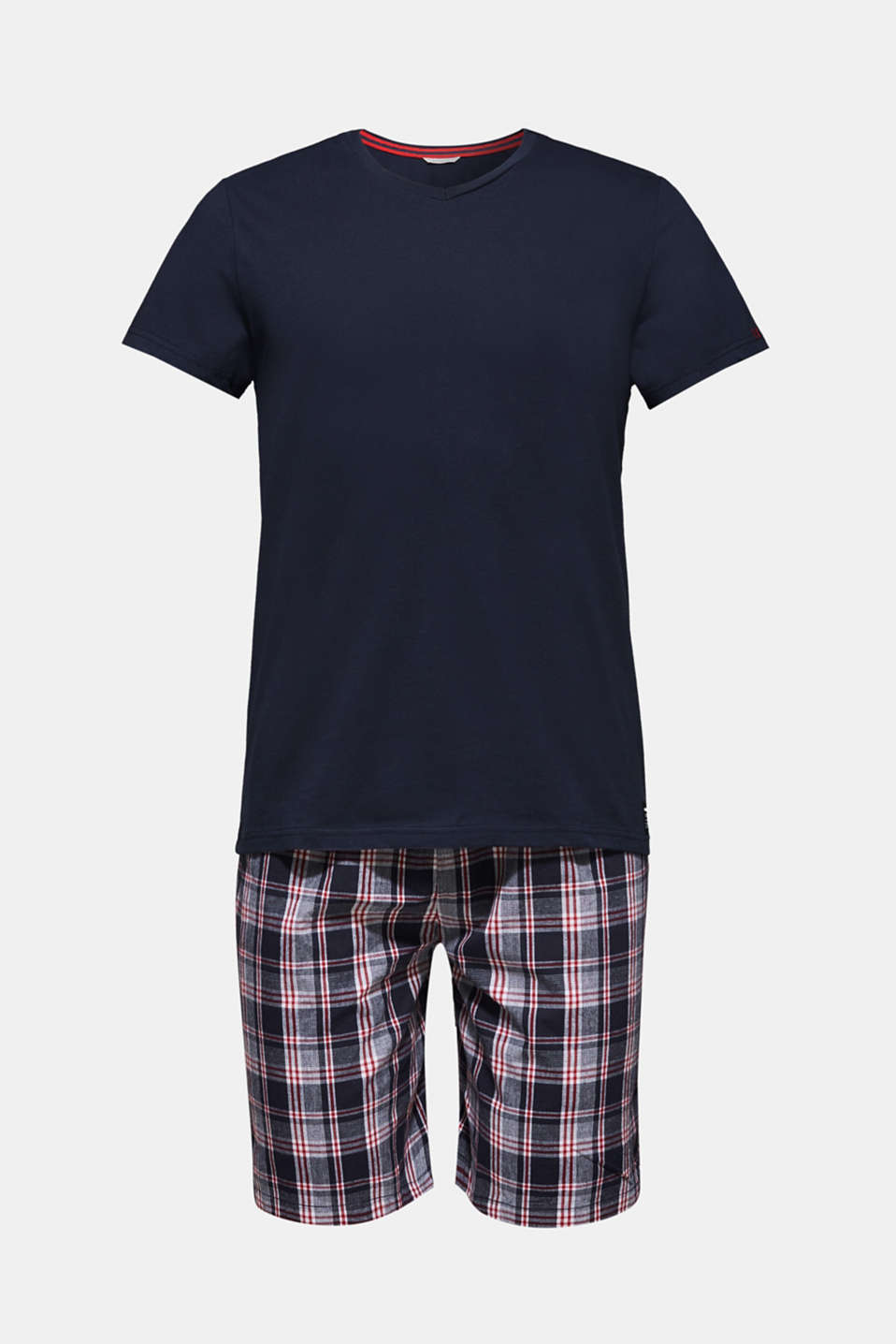 Jersey/fabric pyjamas, 100% cotton, NAVY, detail image number 3