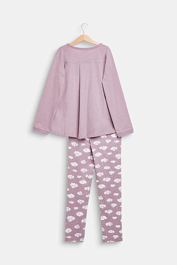 Pilvipainettu pyjamasetti, MAUVE, detail image number 1
