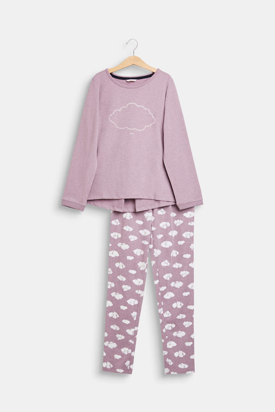 Esprit - Pyjama set with a cloud print