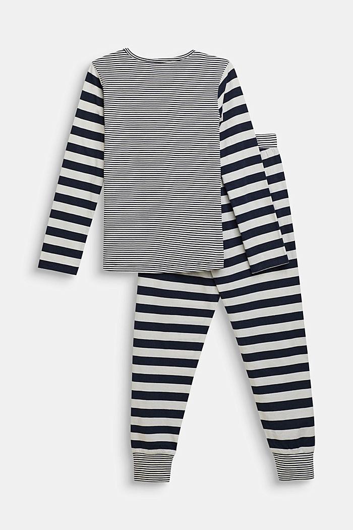 Pyjama met strepen, NAVY, detail image number 1