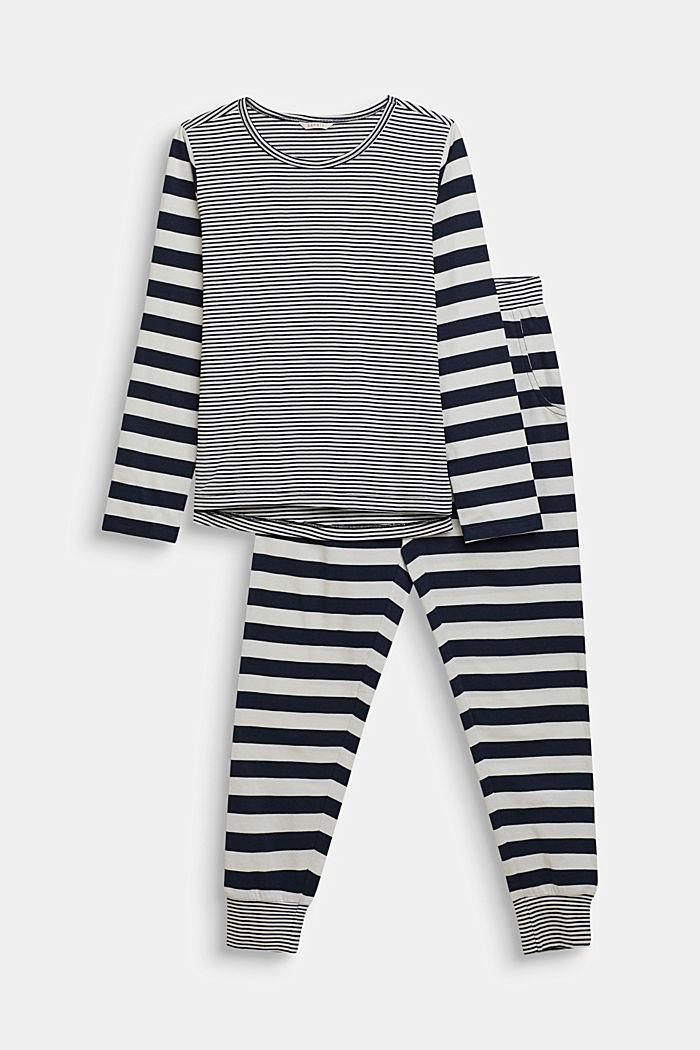 Pyjama met strepen, NAVY, detail image number 0
