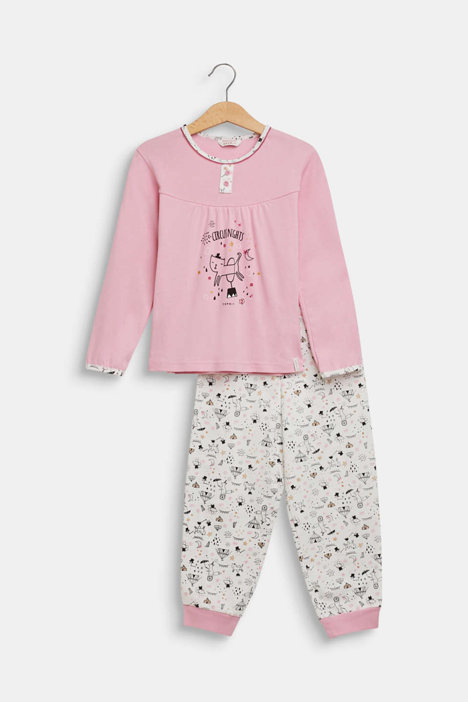 Pyjama set with a circus print, OFF WHITE, detail image number 0