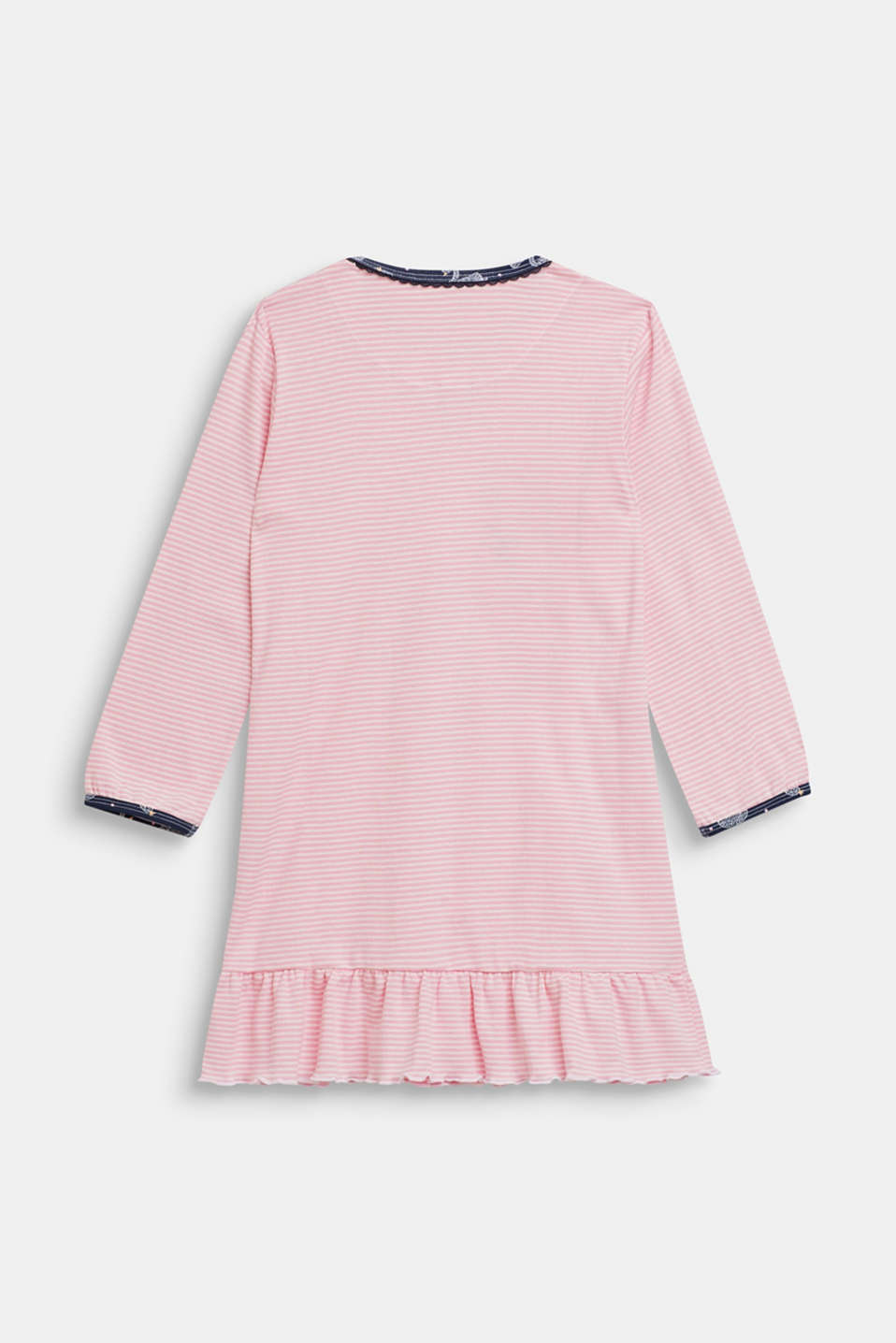 Nightshirt with a swan motif, made of 100% cotton, OLD PINK, detail image number 1