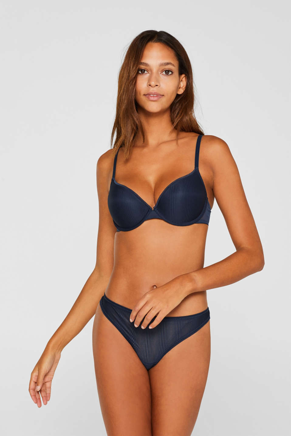 Esprit - Push-up-bh met strepen