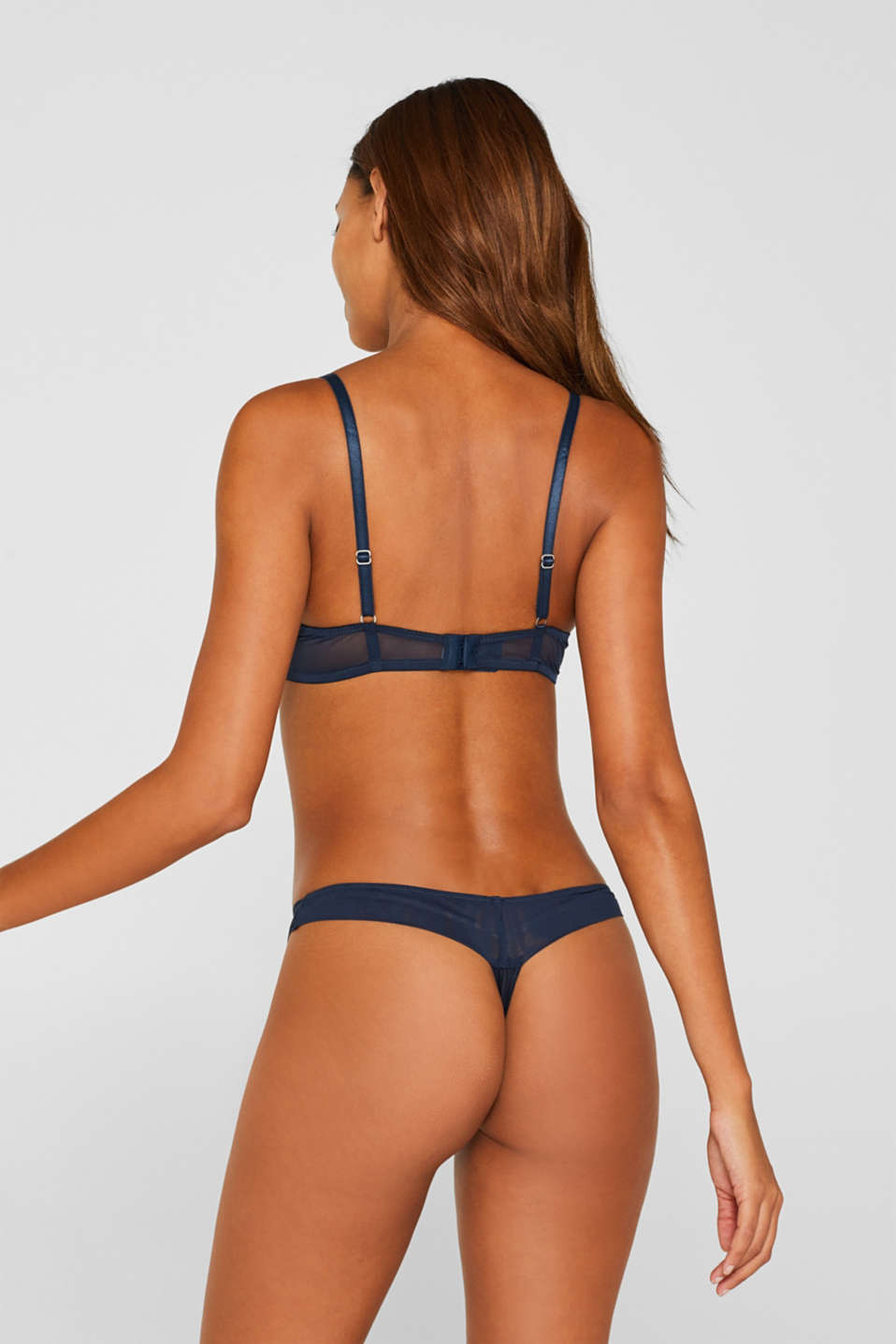 Push-up bra with stripes, NAVY, detail image number 1