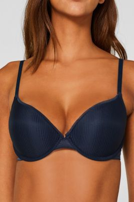 Push-up bra with stripes, NAVY, detail