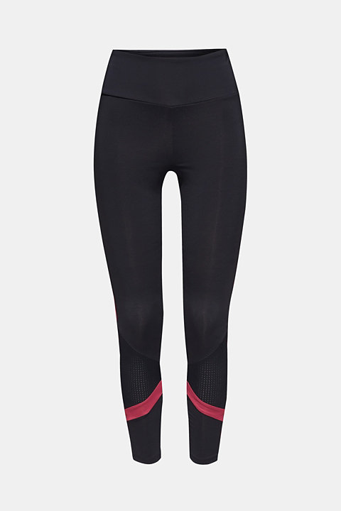 Active leggings with mesh inserts, E-DRY