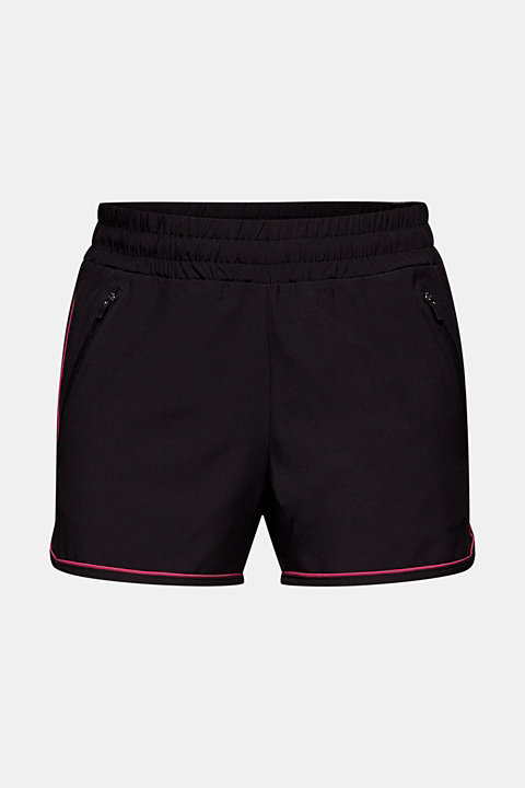 Stretch shorts with contrasting trims