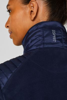 Fleece jacket with nylon details