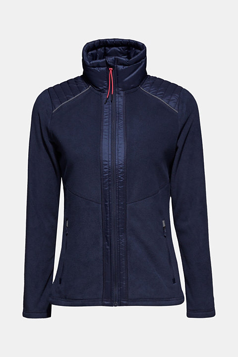 Fleece jacket with nylon details