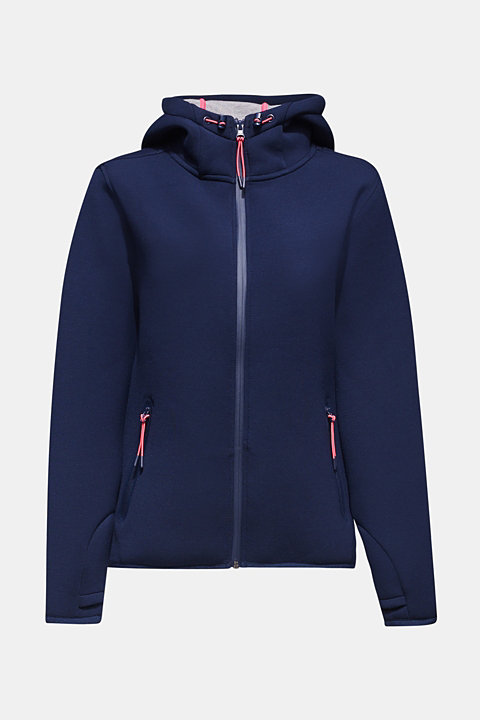 Hooded jacket made of fine jersey