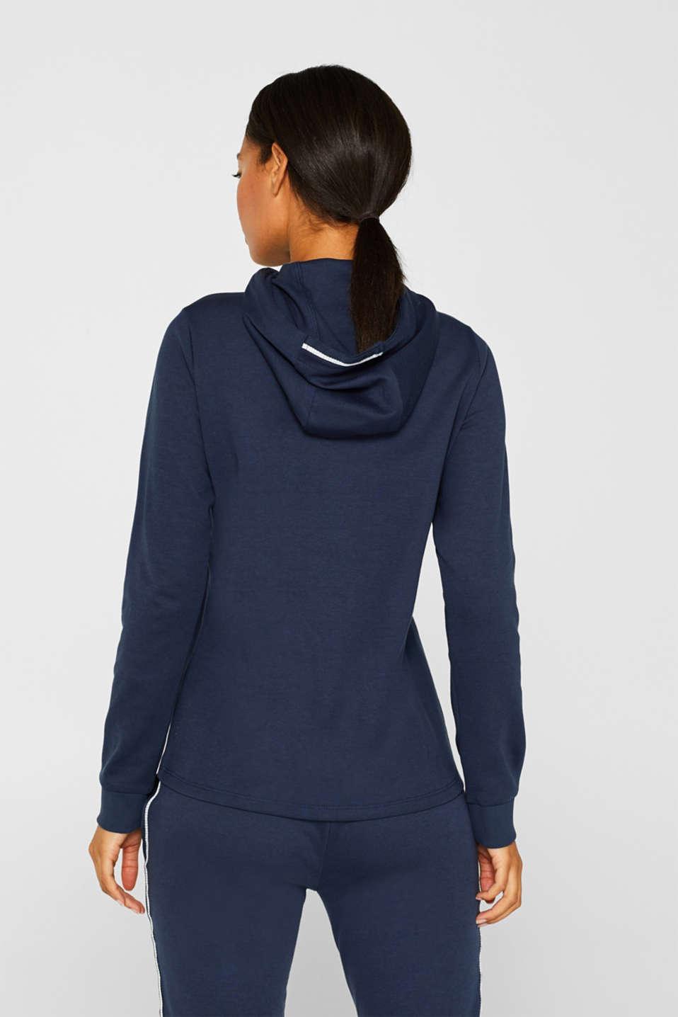 Sweatshirts cardigan, NAVY, detail image number 3
