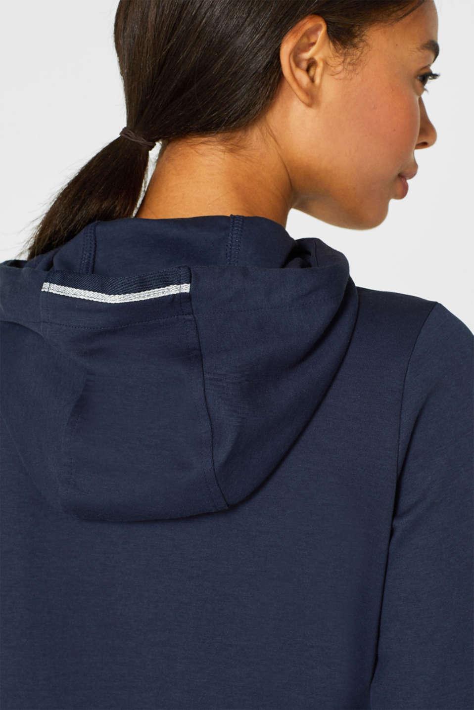 Sweatshirts cardigan, NAVY, detail image number 2