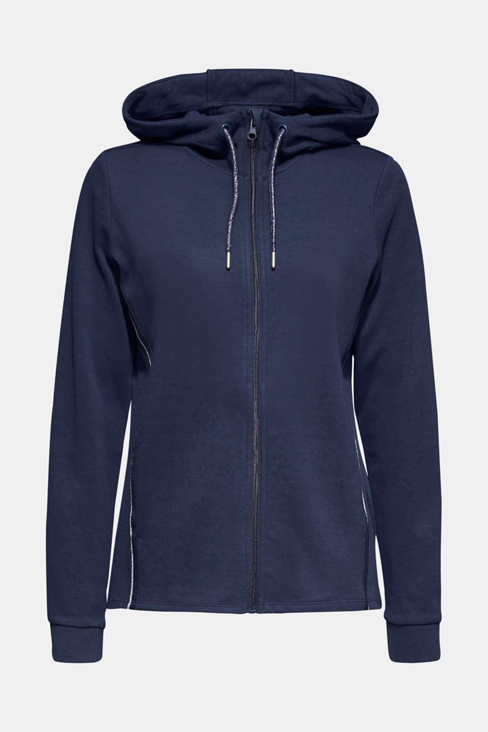 Sweatshirts cardigan, NAVY, detail image number 6