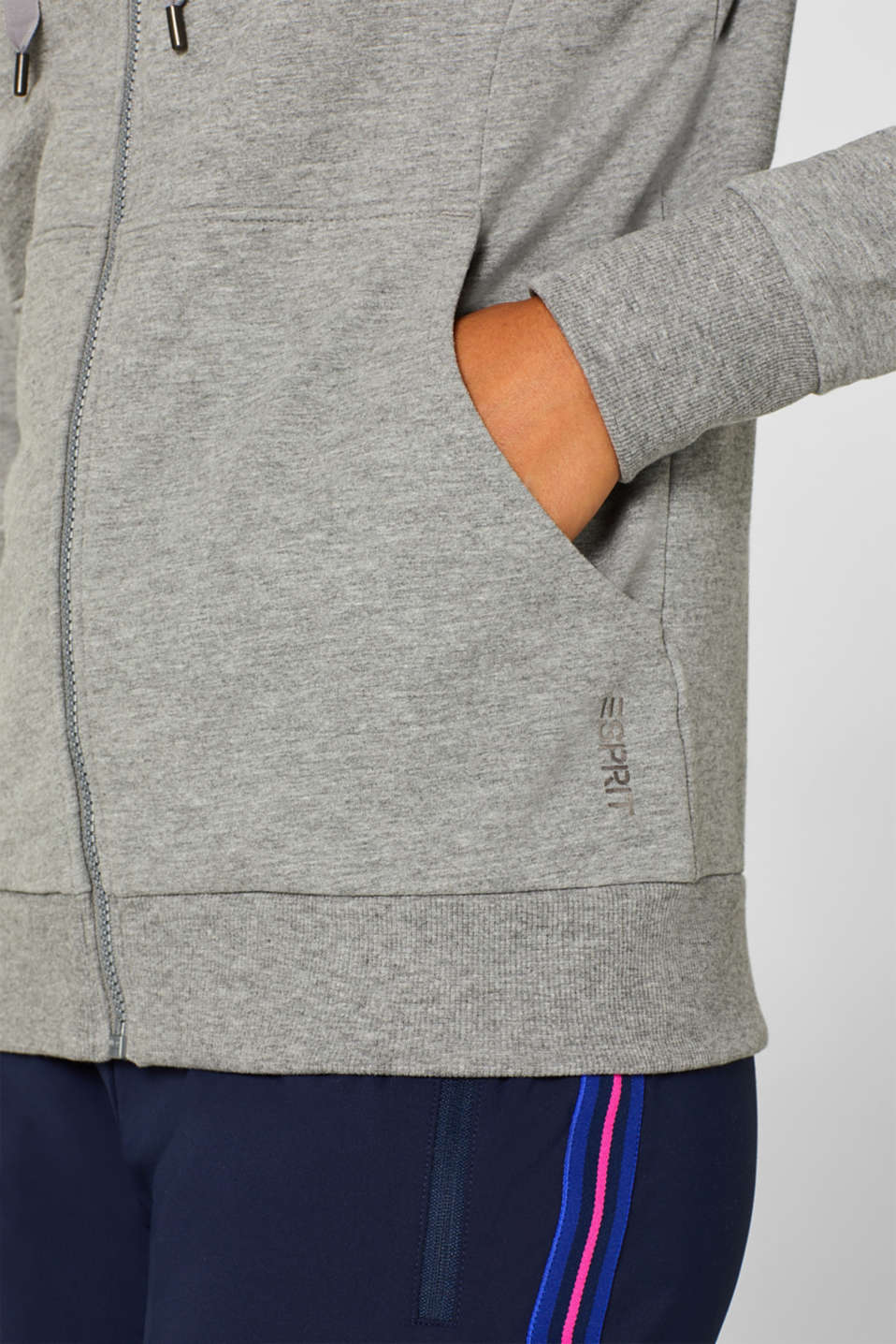 Sweatshirts cardigan, MEDIUM GREY 2, detail image number 2