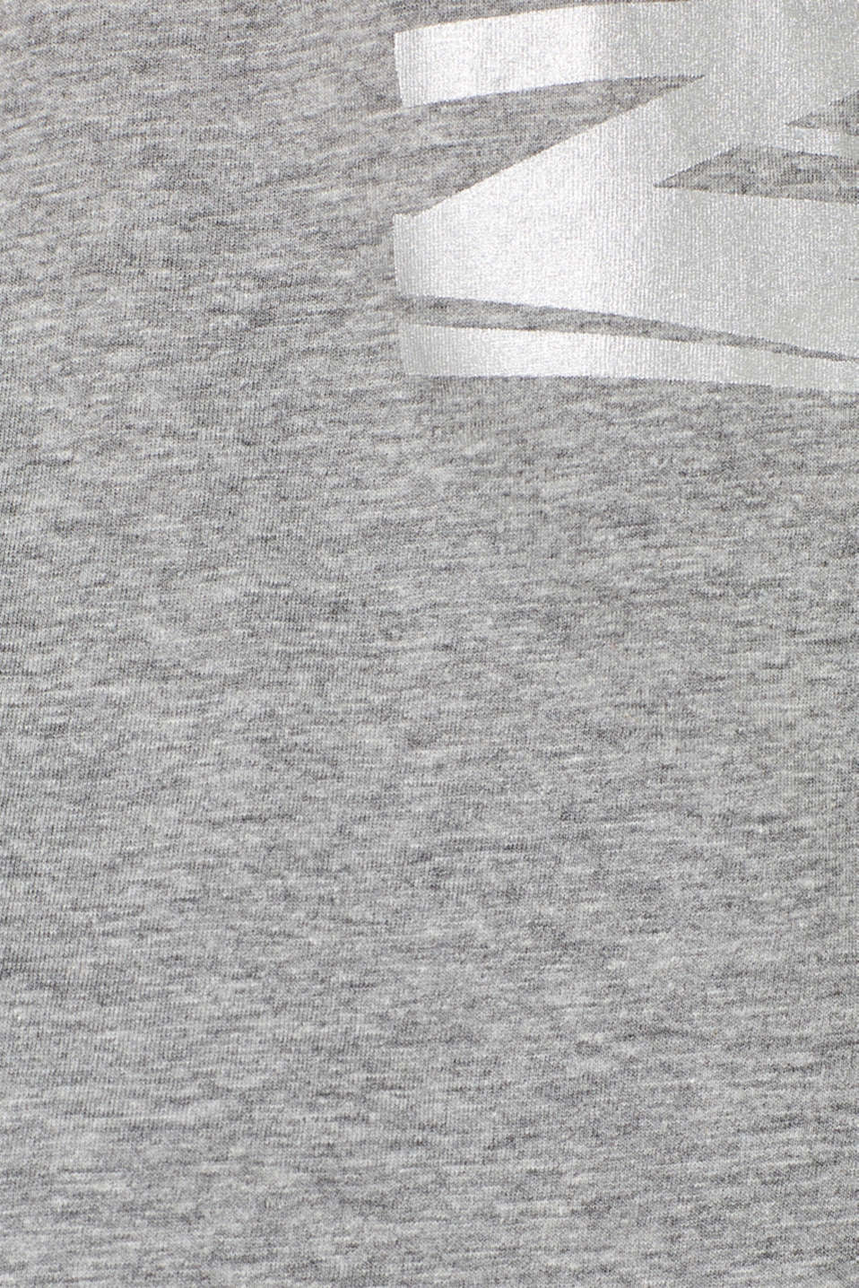 Melange top with a print on the front, MEDIUM GREY 2, detail image number 4