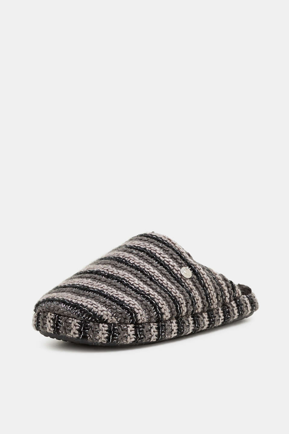 Chunky knit slippers, BLACK, detail image number 2