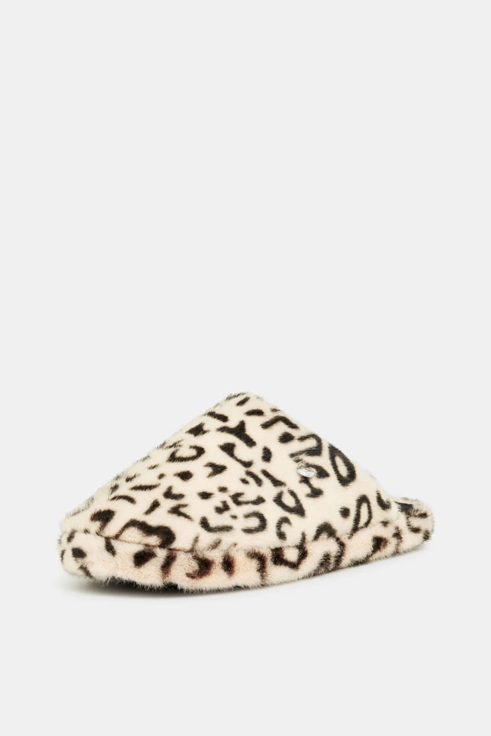 Fake fur slippers, OFF WHITE, detail image number 2
