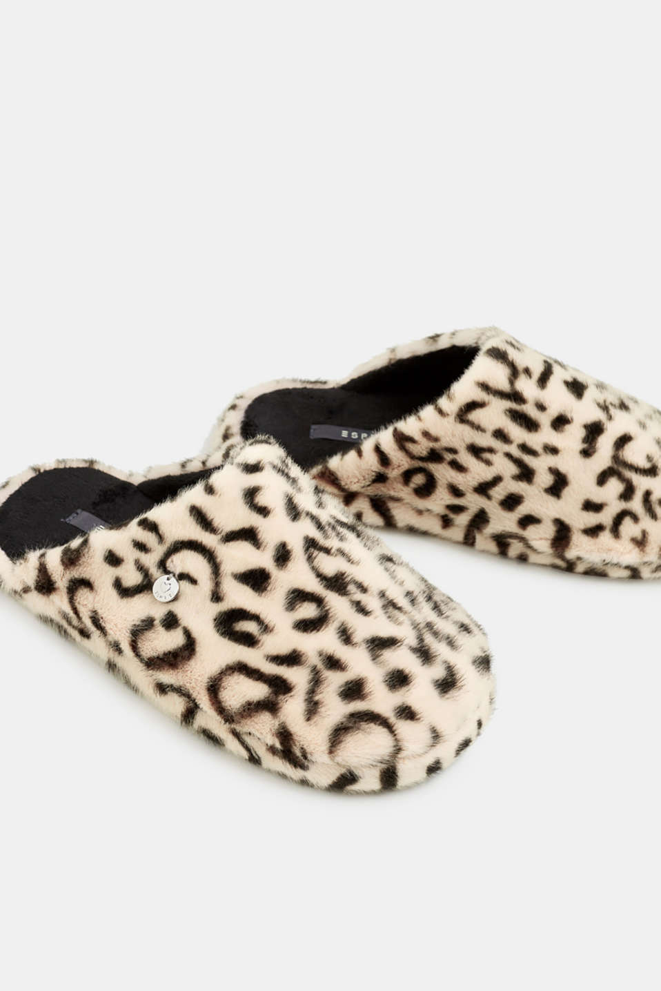 Fake fur slippers, OFF WHITE, detail image number 3
