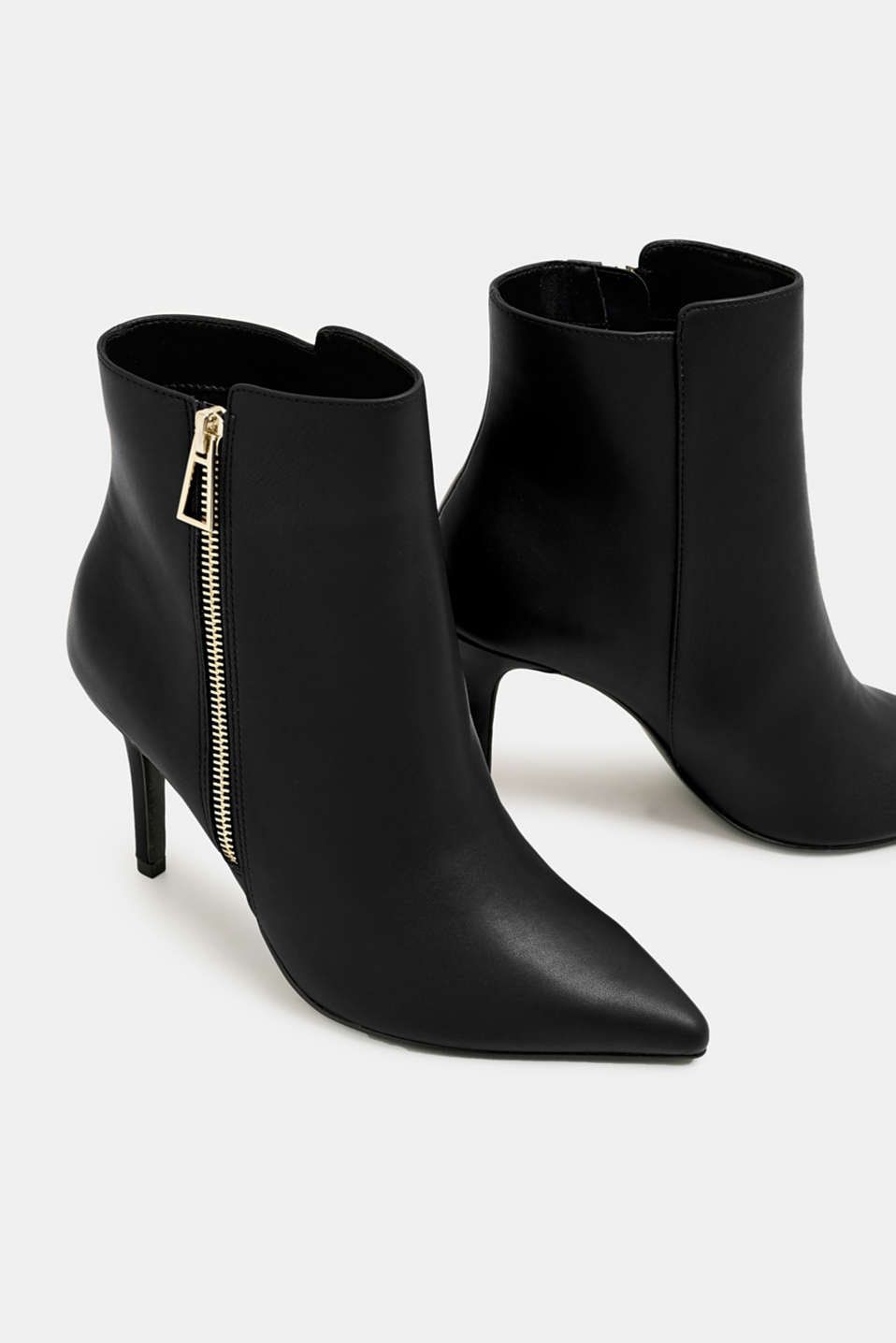 Faux leather ankle boots, BLACK, detail image number 3