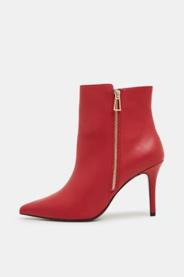 Faux leather ankle boots, DARK RED, detail