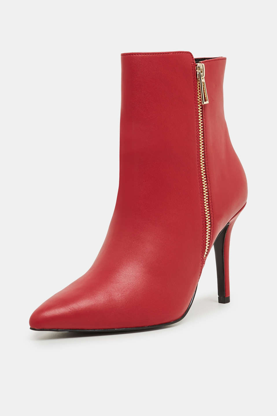 Faux leather ankle boots, DARK RED, detail image number 1