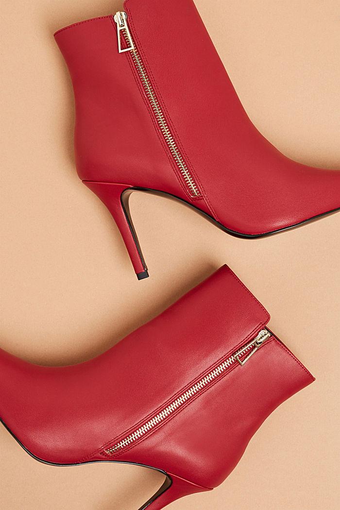 Booties in Leder-Optik, DARK RED, detail image number 3