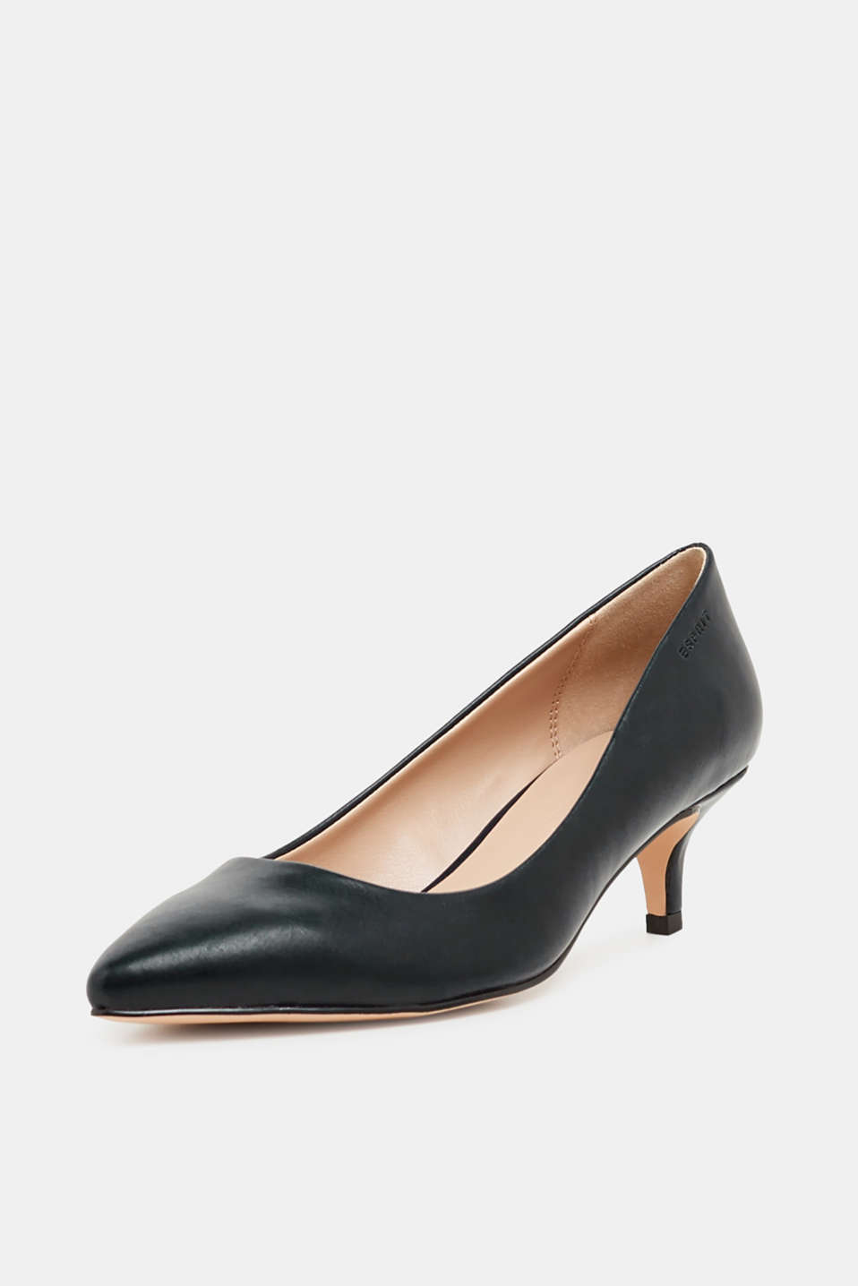 Faux leather court shoes, BLACK, detail image number 2