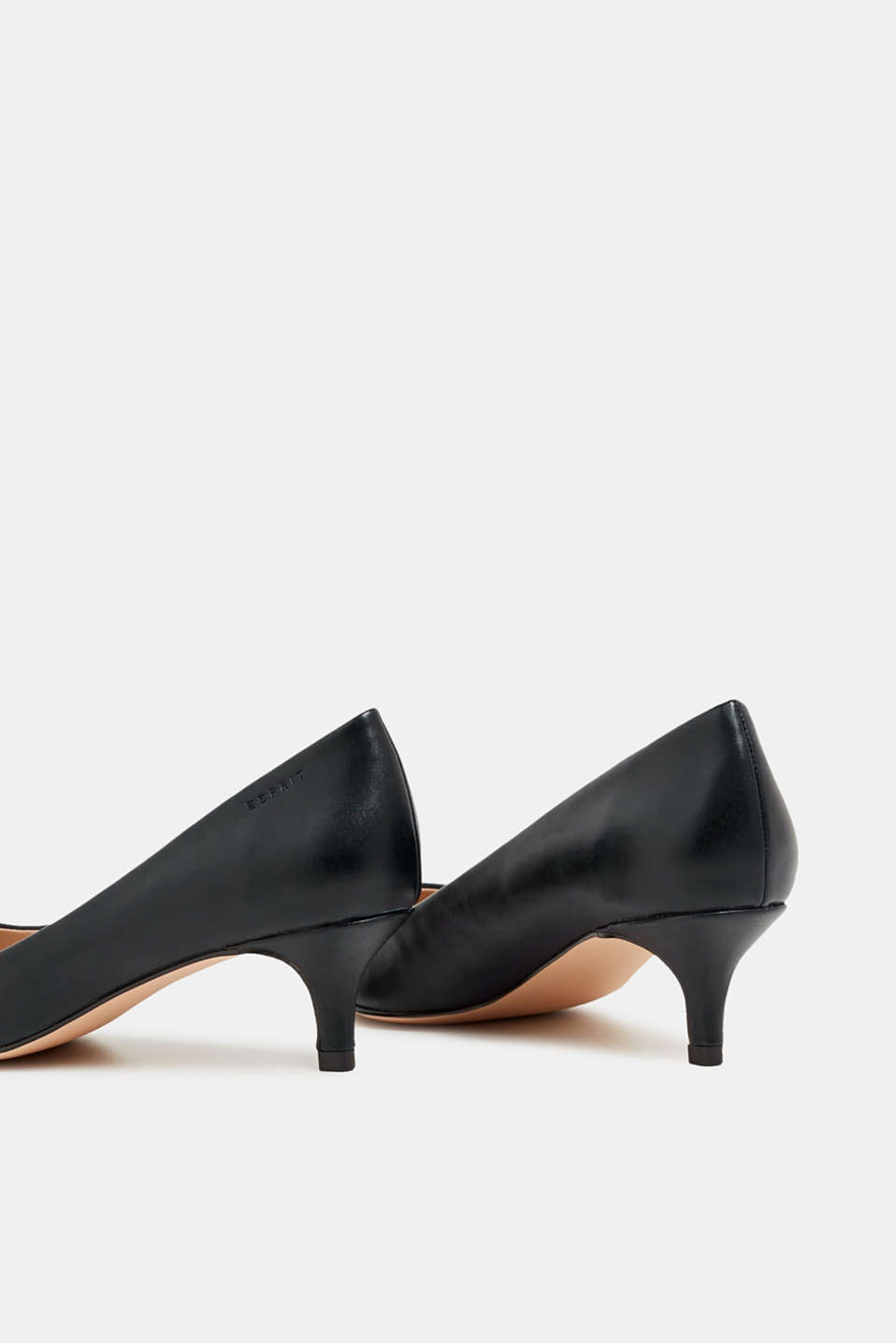 Faux leather court shoes, BLACK, detail image number 5