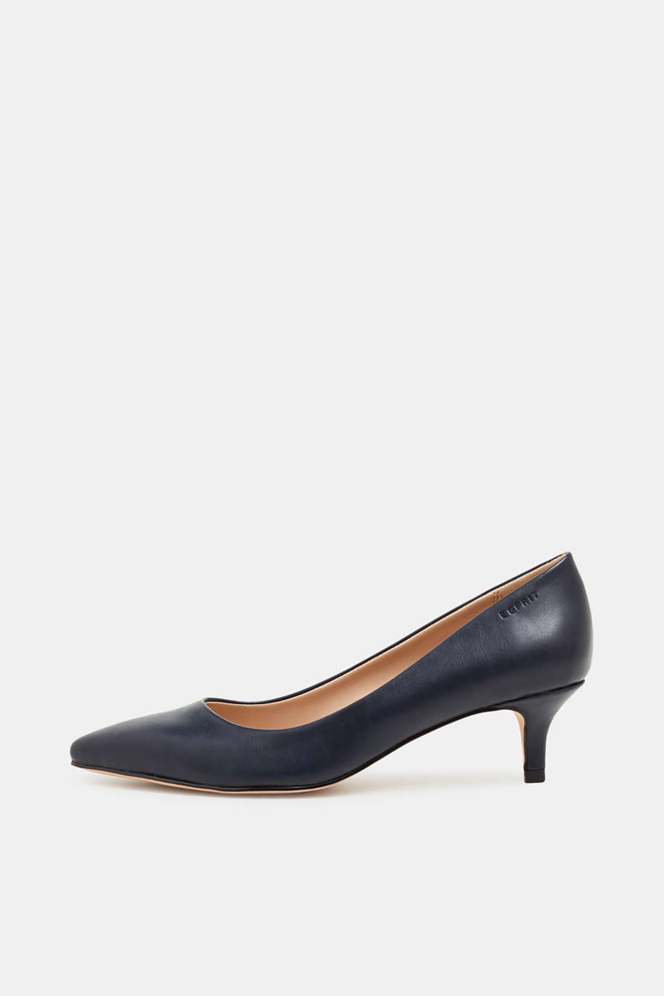 Faux leather court shoes, NAVY, detail image number 0