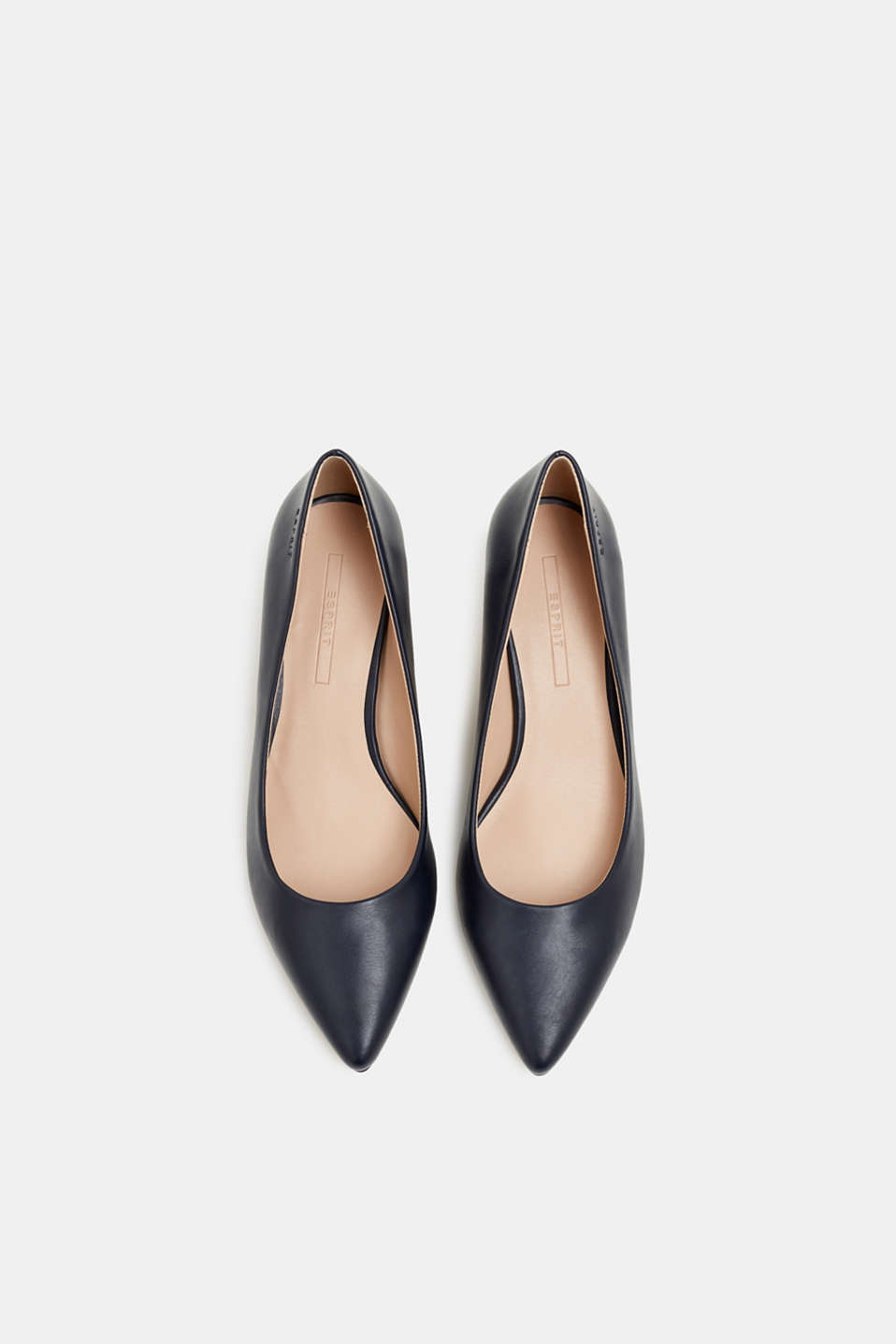 Faux leather court shoes, NAVY, detail image number 1