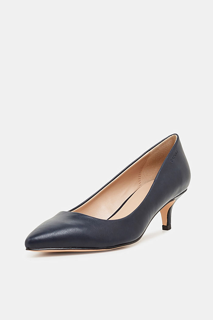 Faux leather court shoes, NAVY, detail image number 2