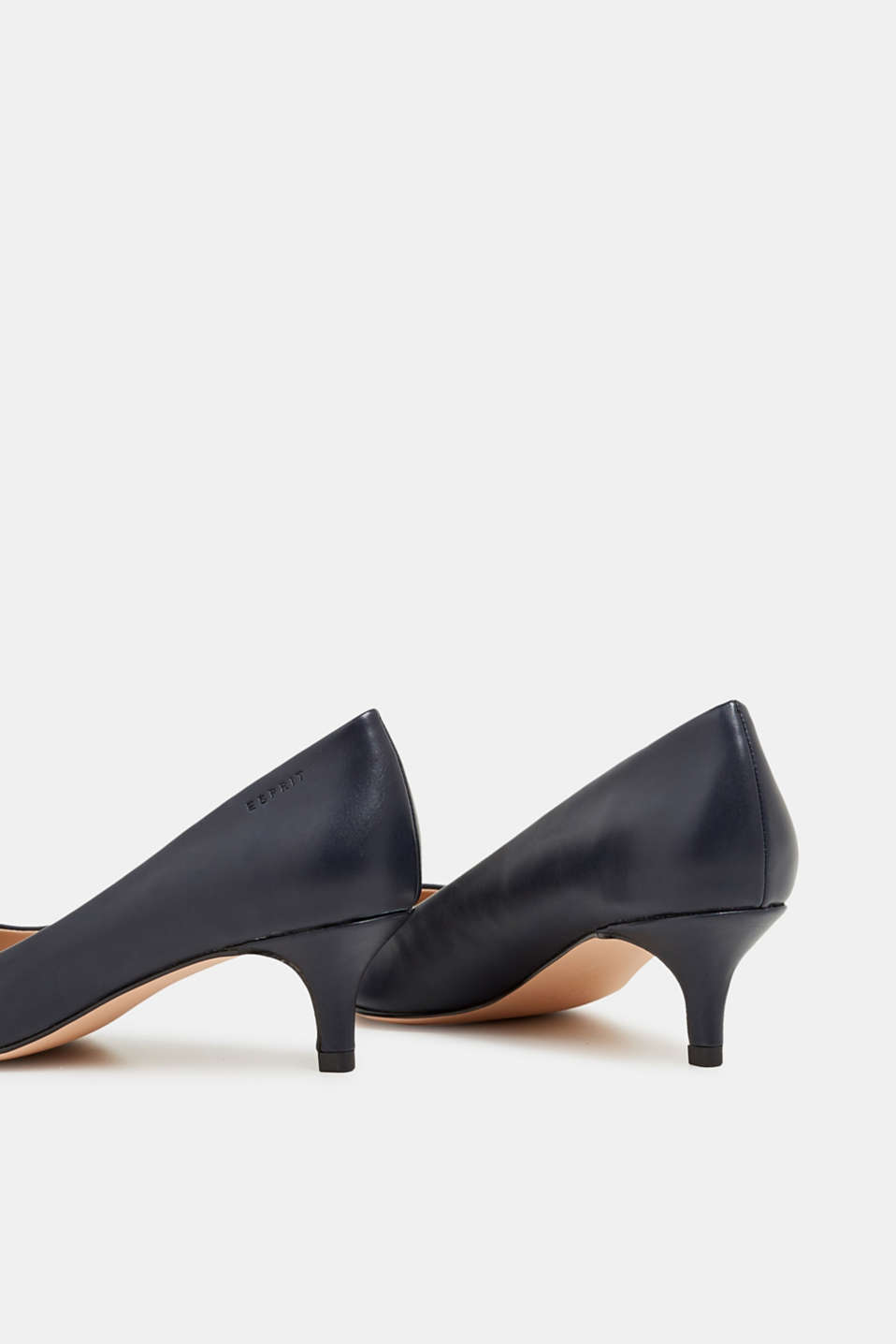 Faux leather court shoes, NAVY, detail image number 5