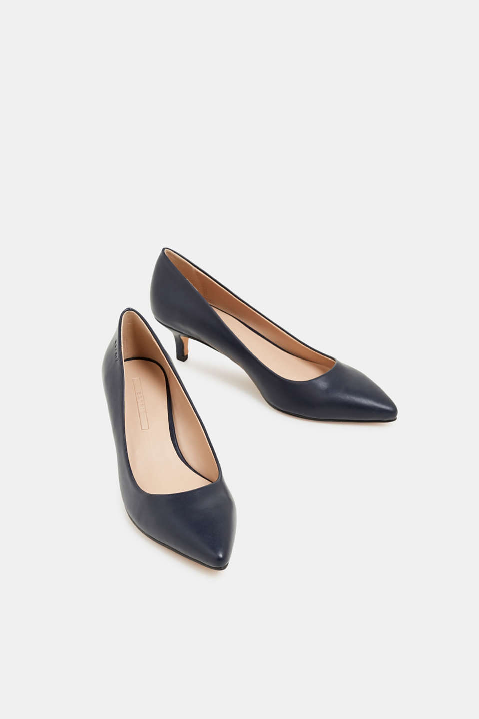 Faux leather court shoes, NAVY, detail image number 6