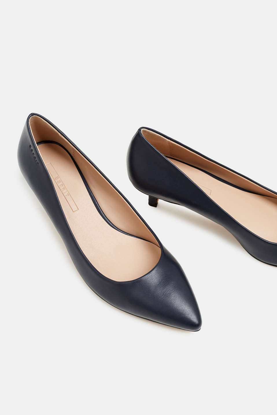 Faux leather court shoes, NAVY, detail image number 4