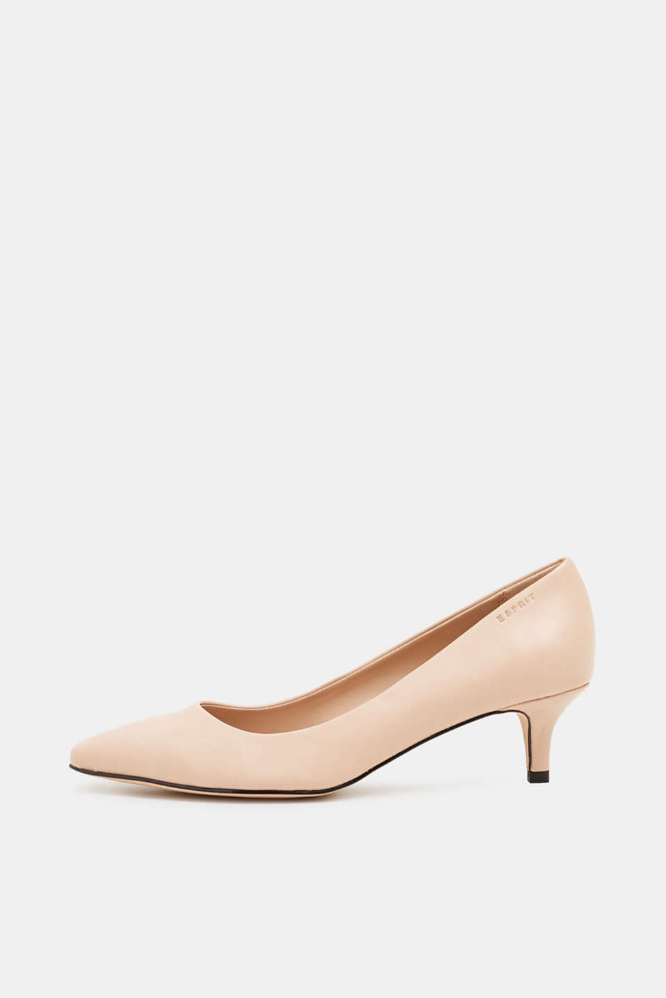 Faux leather court shoes, NUDE, detail image number 0