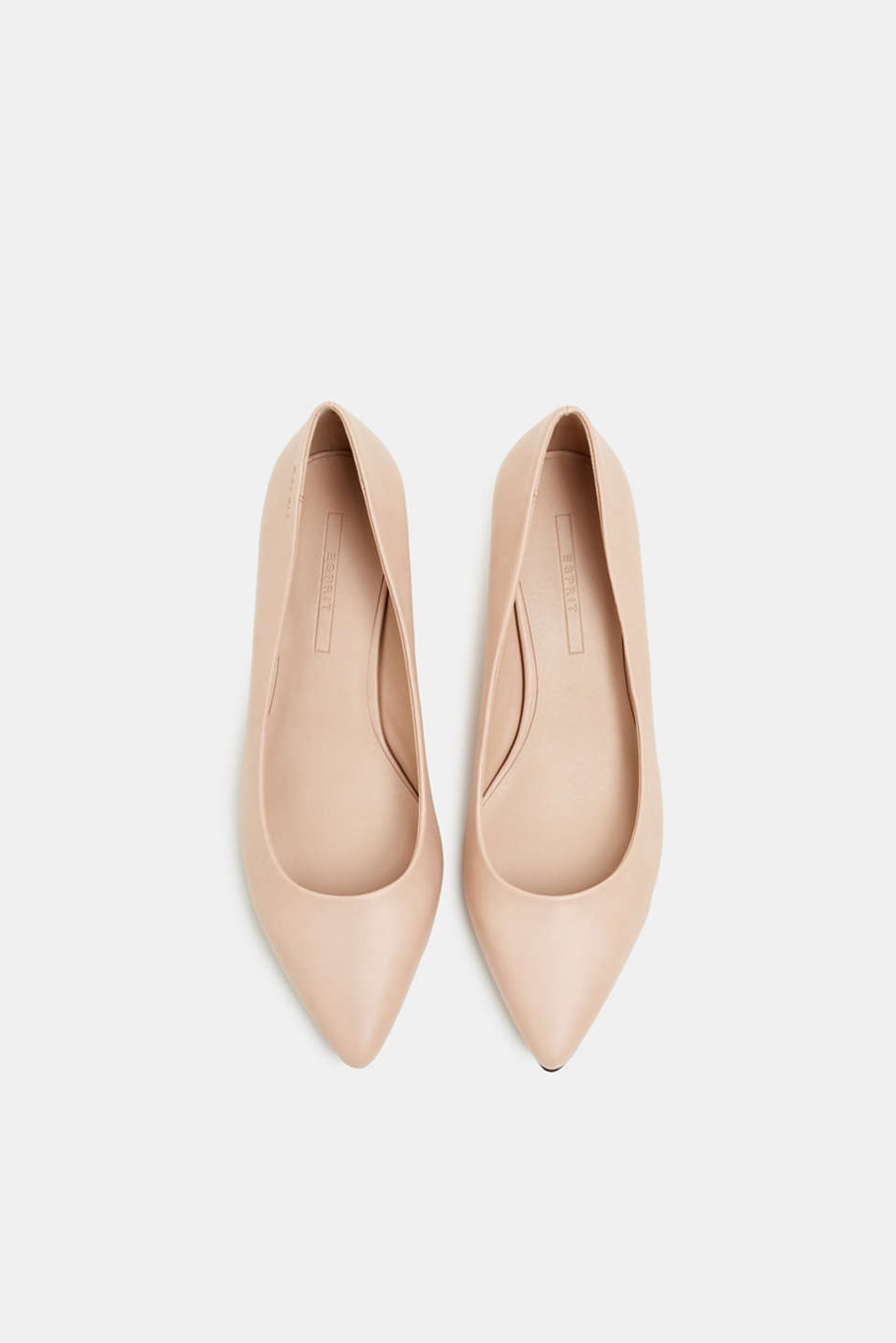 Faux leather court shoes, NUDE, detail image number 1