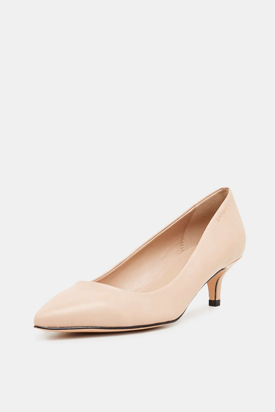 Faux leather court shoes, NUDE, detail image number 2