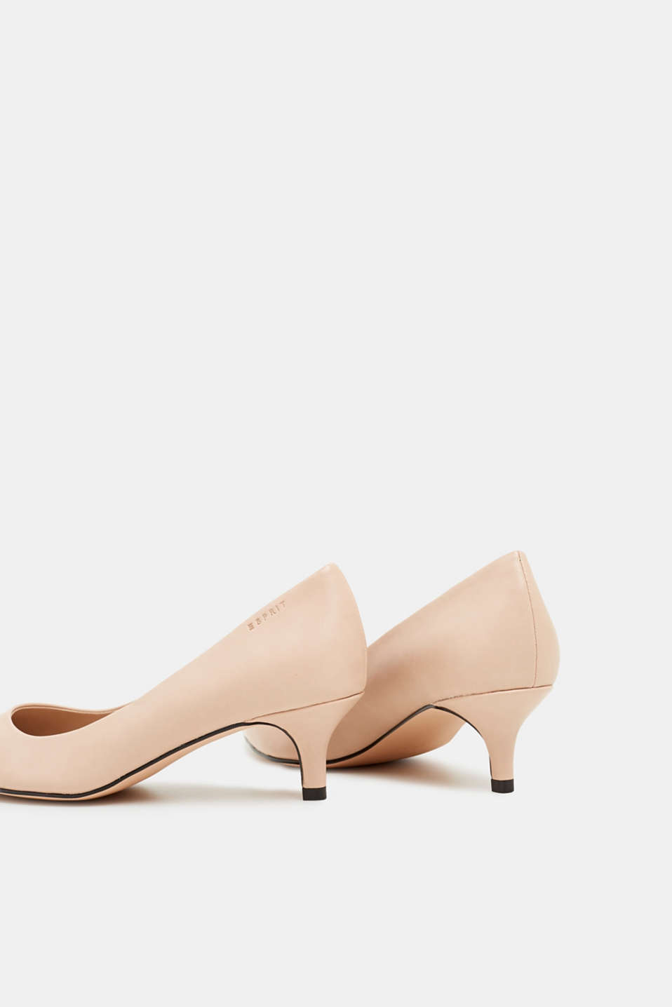 Faux leather court shoes, NUDE, detail image number 5