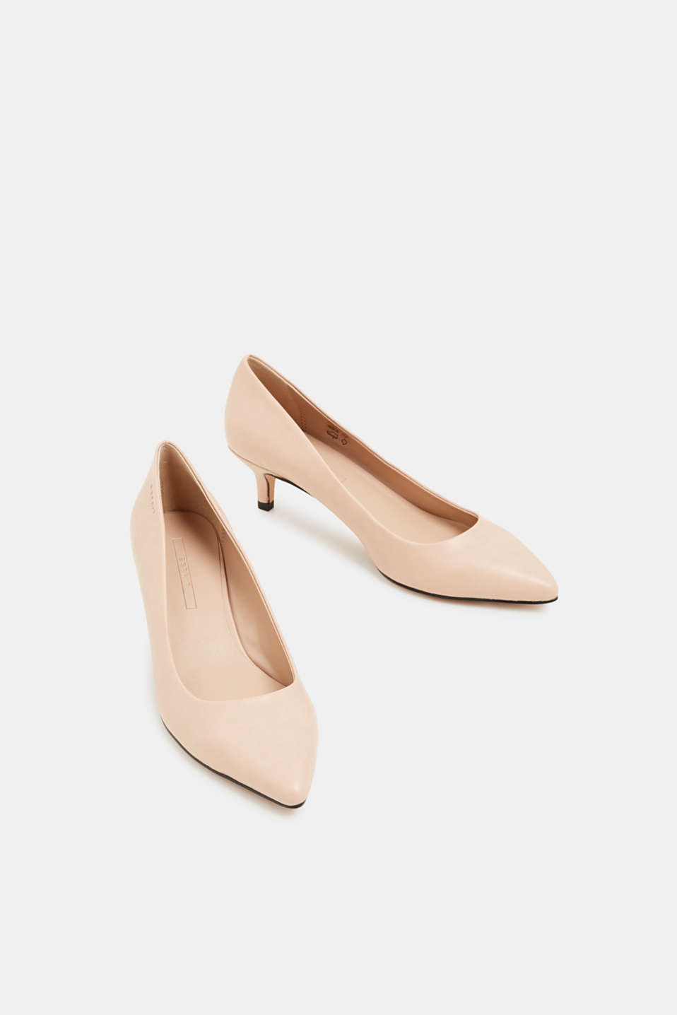Faux leather court shoes, NUDE, detail image number 6