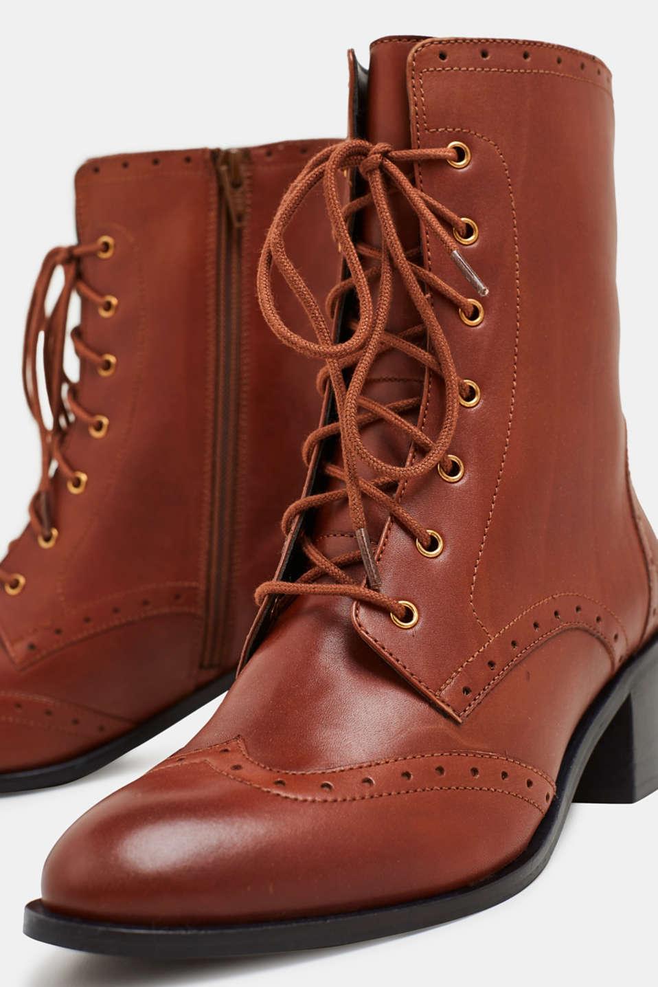 Formal Shoes leather, CARAMEL, detail image number 3