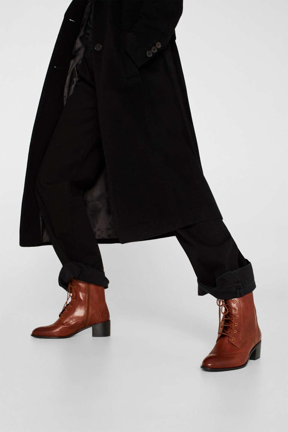 Formal Shoes leather, CARAMEL, detail image number 2