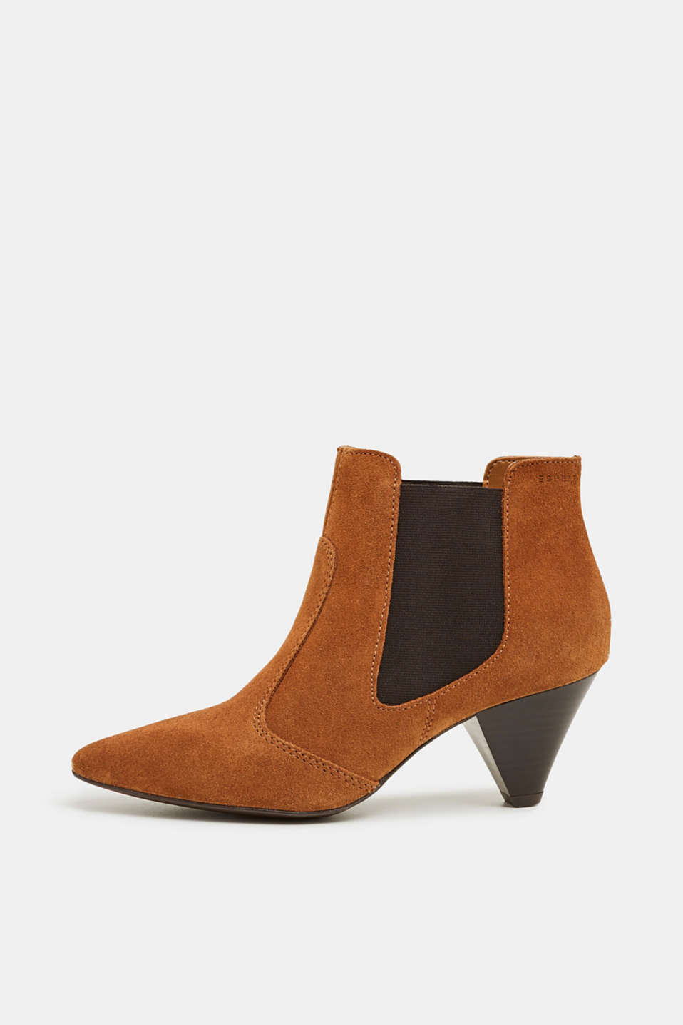 Esprit - Leather ankle boots with a funnel heel