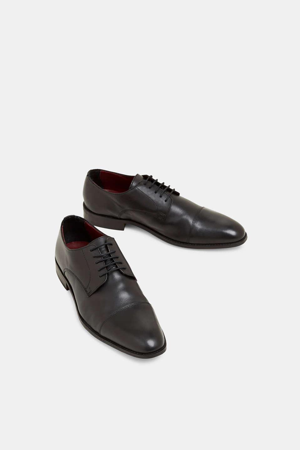 Formal Shoes leather, BLACK, detail image number 6