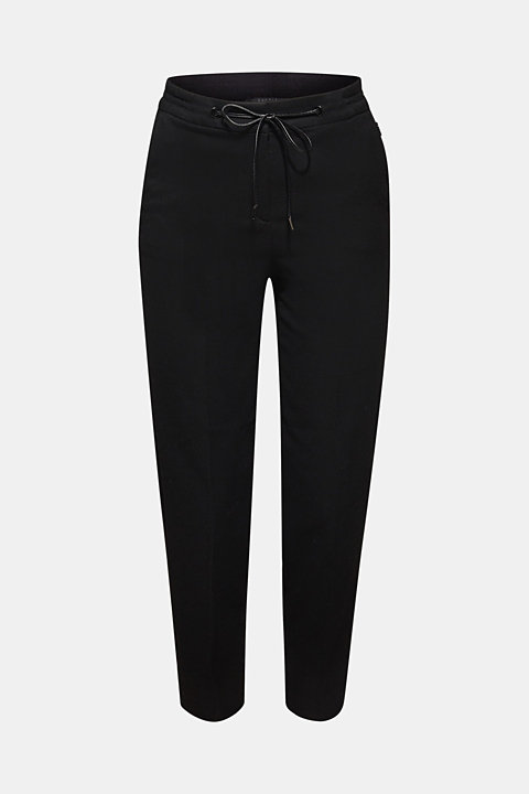 Flannel stretch trousers in a tracksuit bottom style
