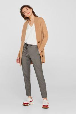 Melange stretch trousers in a tracksuit bottom design, GUNMETAL 5, detail