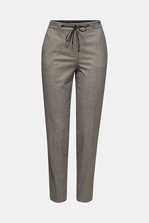 Melange stretch trousers in a tracksuit bottom design