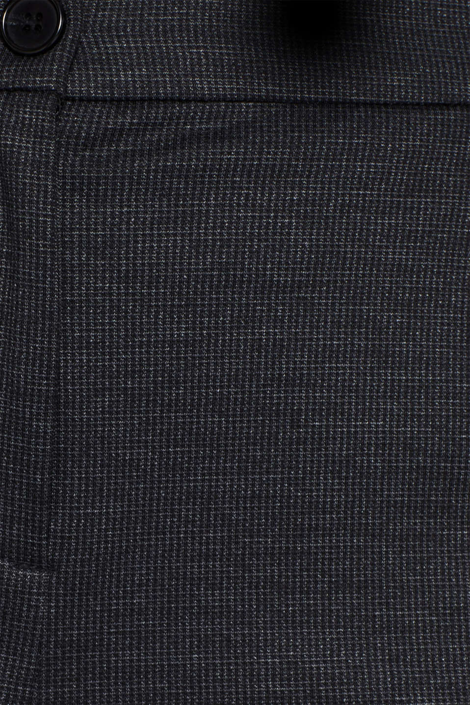 MINI CHECK Mix + Match stretch trousers, ANTHRACITE, detail image number 4
