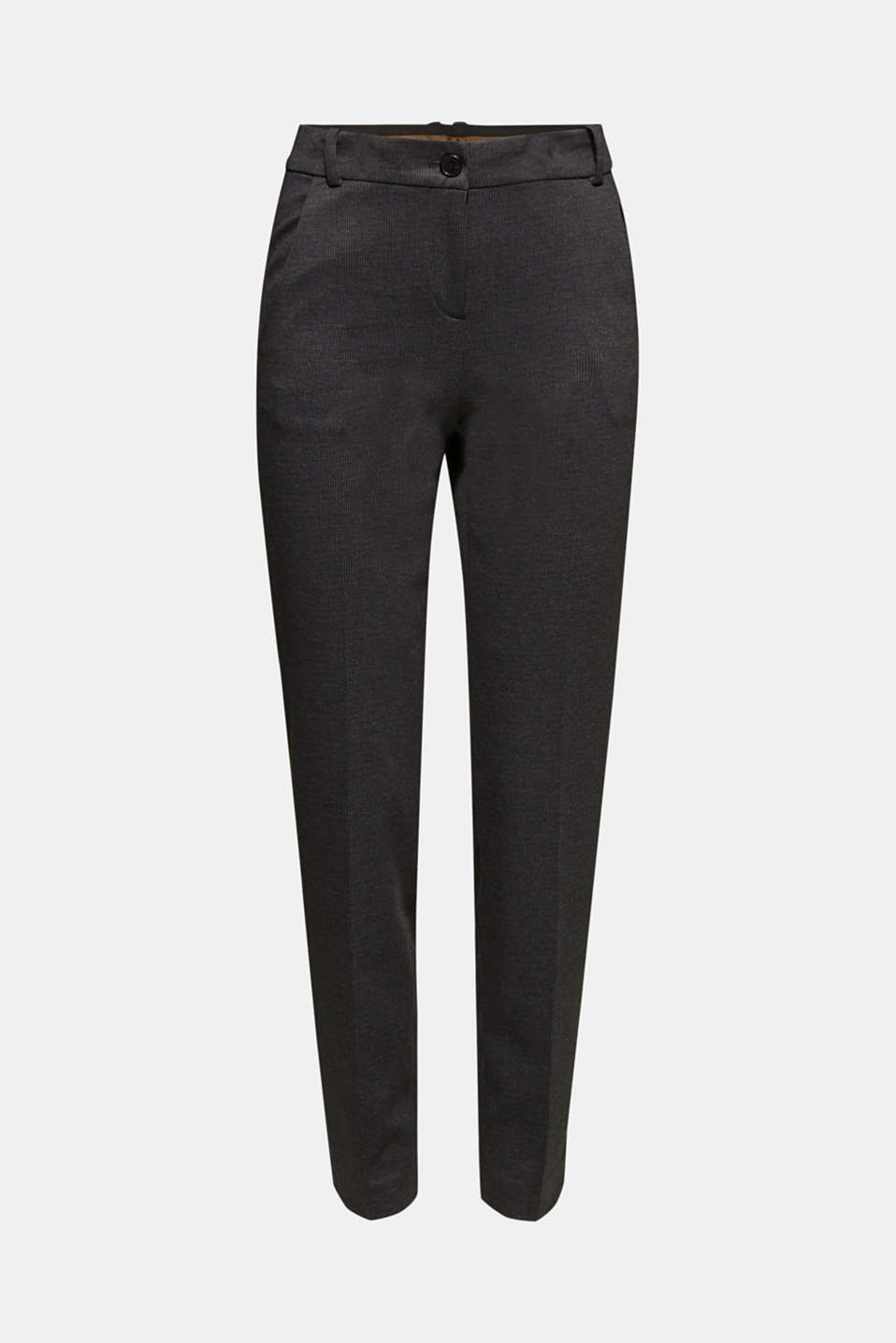 MINI CHECK Mix + Match stretch trousers, ANTHRACITE, detail image number 7
