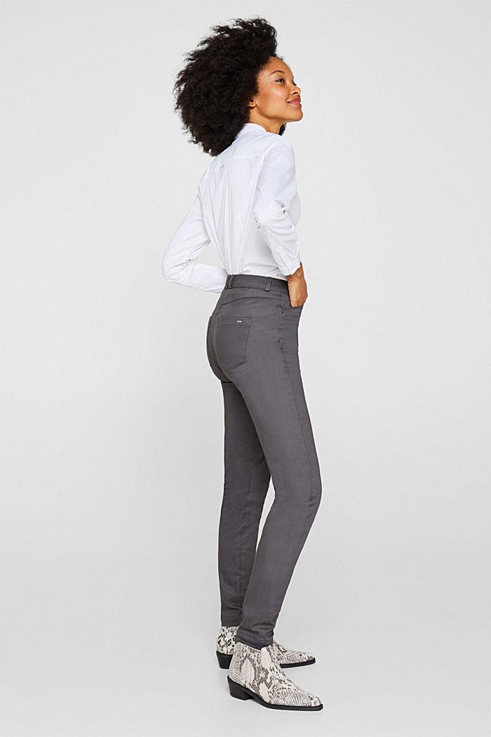 Softe High-Waist-Hose mit Stretch, GUNMETAL, detail image number 0